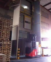 Safety of workplaces: safety gates and handling tower