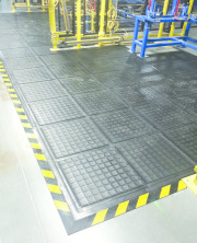 A bespoke matting solution for your warehouse, whatever the shape or size