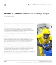 Effective or Outdated? Behavior-Based Safety Concepts