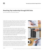 Reaching Top Leadership through EHS Data