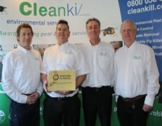 GOLD AWARD MAKES CLEANKILL PEST CONTROL AN INDUSTRY WORLD LEADER