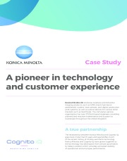 Konica Minolta - A pioneer in customer experience