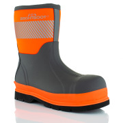 Brightboot Waterproof Rigger Safety Boots Orange / Grey