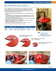 COLLAPSIBLE GATE VALVE LOCKOUT