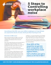 Employers Guide: 5 steps for controlling workplace noise