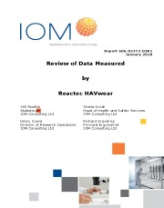 An independent report by the IOM on the validity of the data produced by Reactec's  HAVwear to inform a suitable and sufficient risk assessment